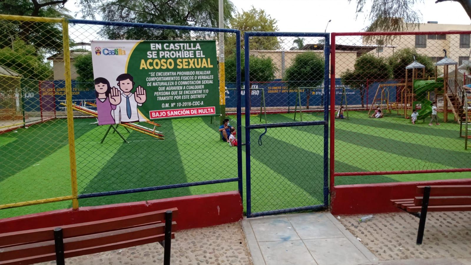 Municipalidad distrital de Castilla hace la lucha contra la violencia sexual.